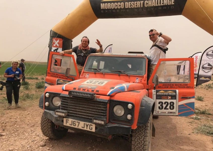 A driver's view from the Morocco Desert Challenge