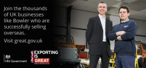 Bowler Selected for UK Government Export Campaign
